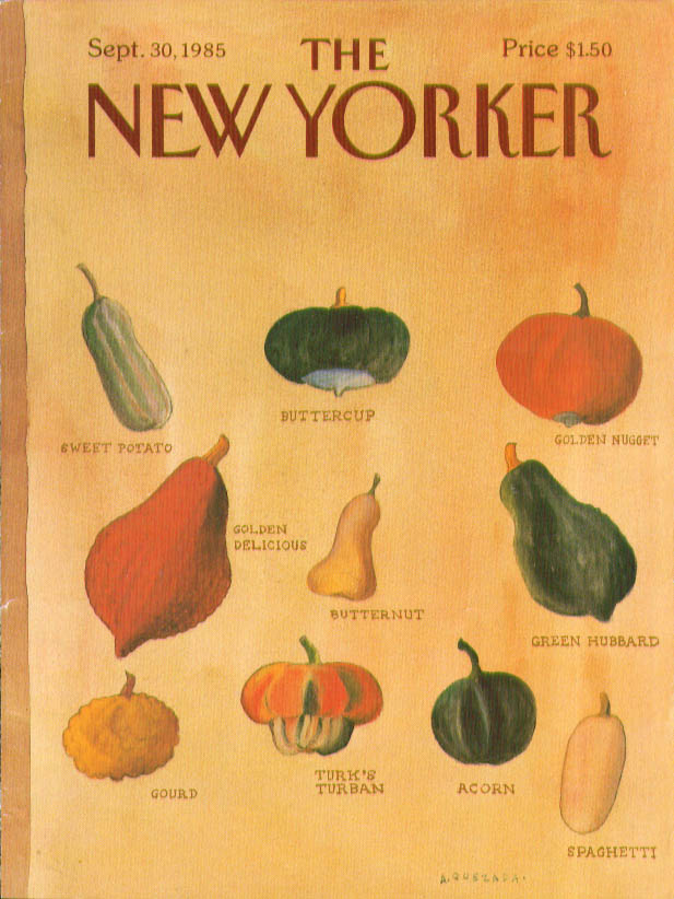 Image for New Yorker cover Quezada varieties of squash 9/30 1985