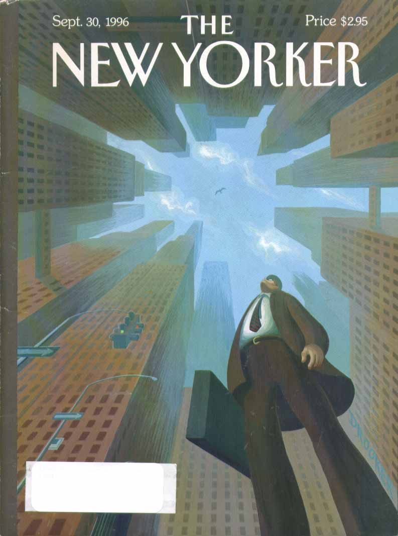 New Yorker cover Drooker skyscraper canyon 9/30 1996