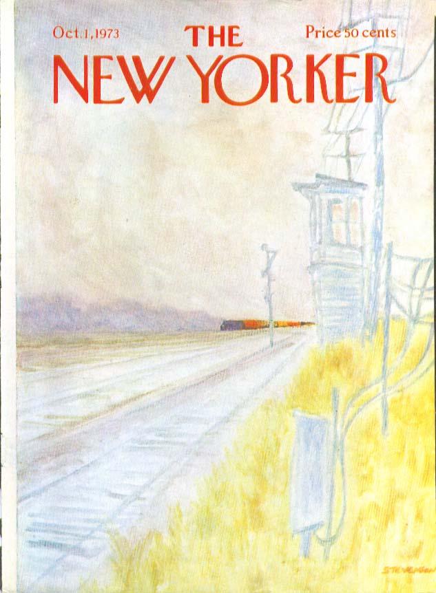 Image for New Yorker cover Stevenson freight train fall 10/1 1973
