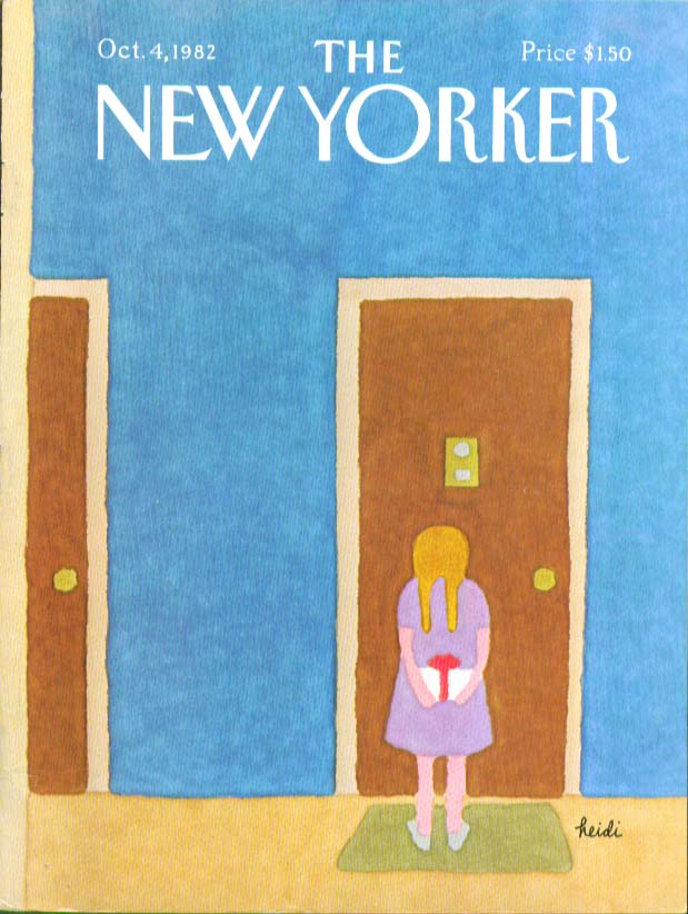 New Yorker cover Heidi blonde pigtail gift 10/4 1982