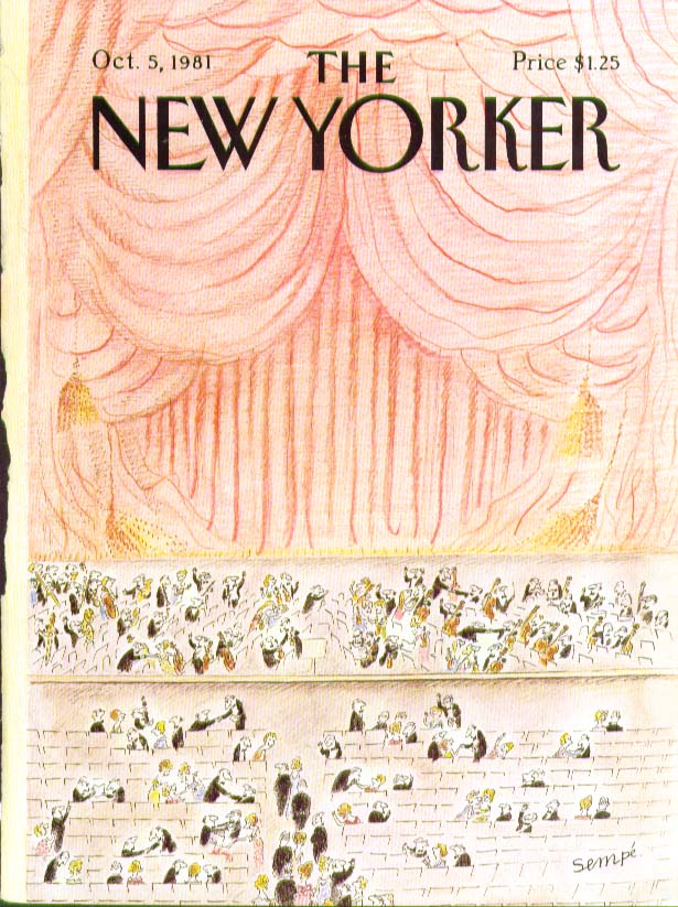 New Yorker cover Sempe symphony intermission 10/5 1981