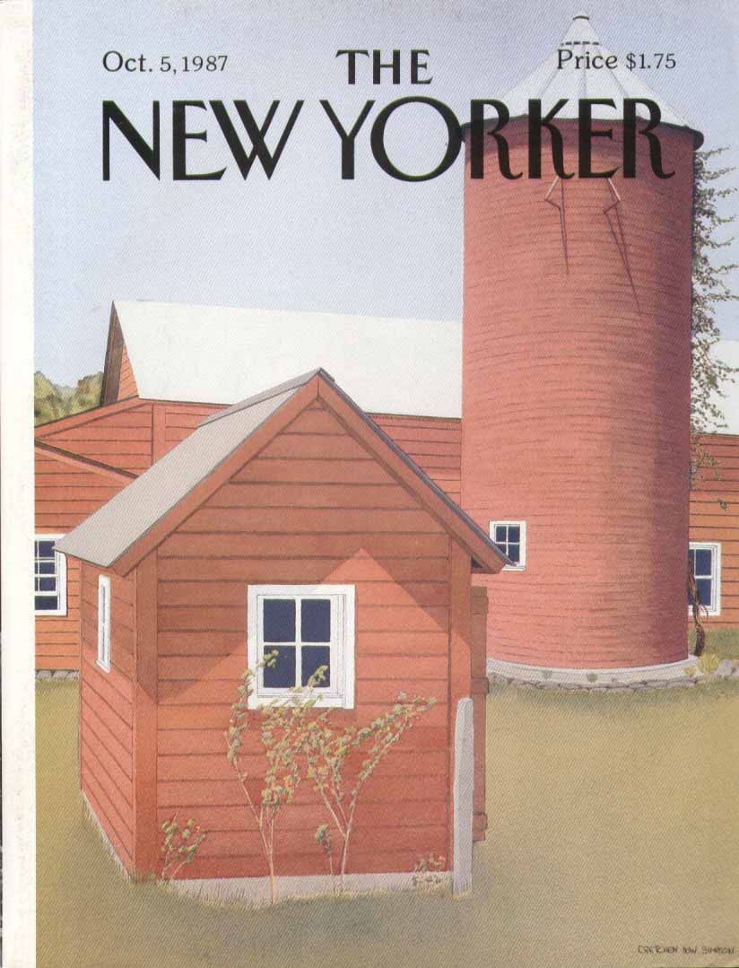 New Yorker cover Simpson red barn & silo 10/5 1987