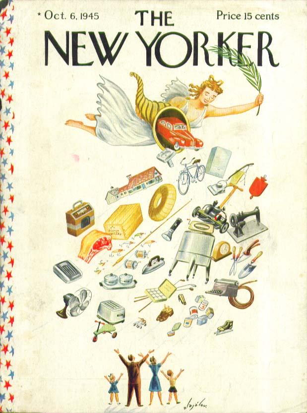 New Yorker cover Alajalov postwar cornucopia 10/6 1945