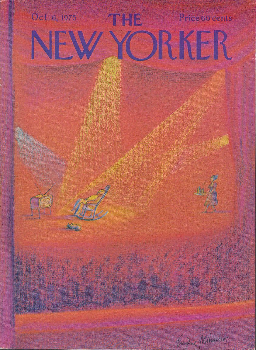New Yorker cover Mihaesco living room play 10/6 1975