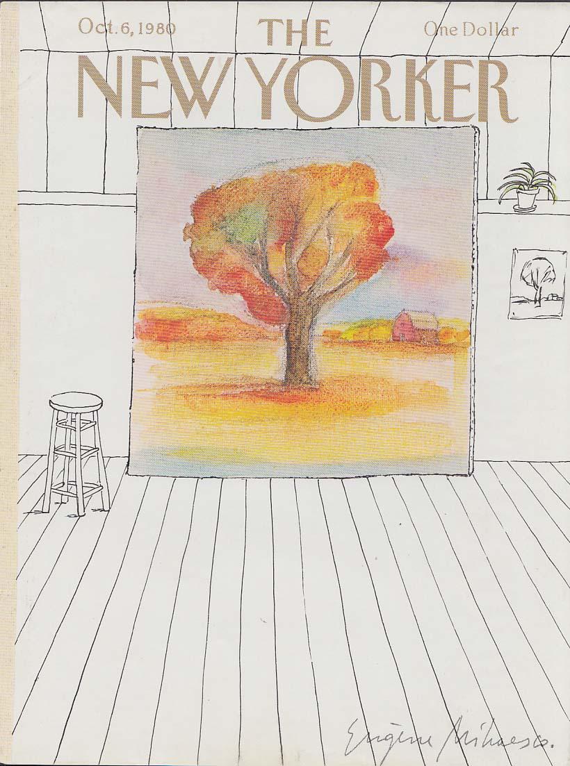 New Yorker cover Mihaesco fall tree canvas 10/6 1980