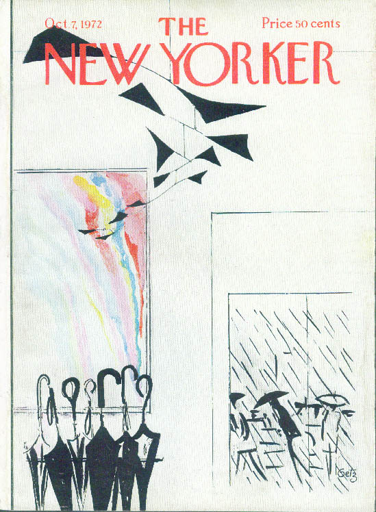 New Yorker cover Arthur Getz Calder umbrellas 10/7 1972