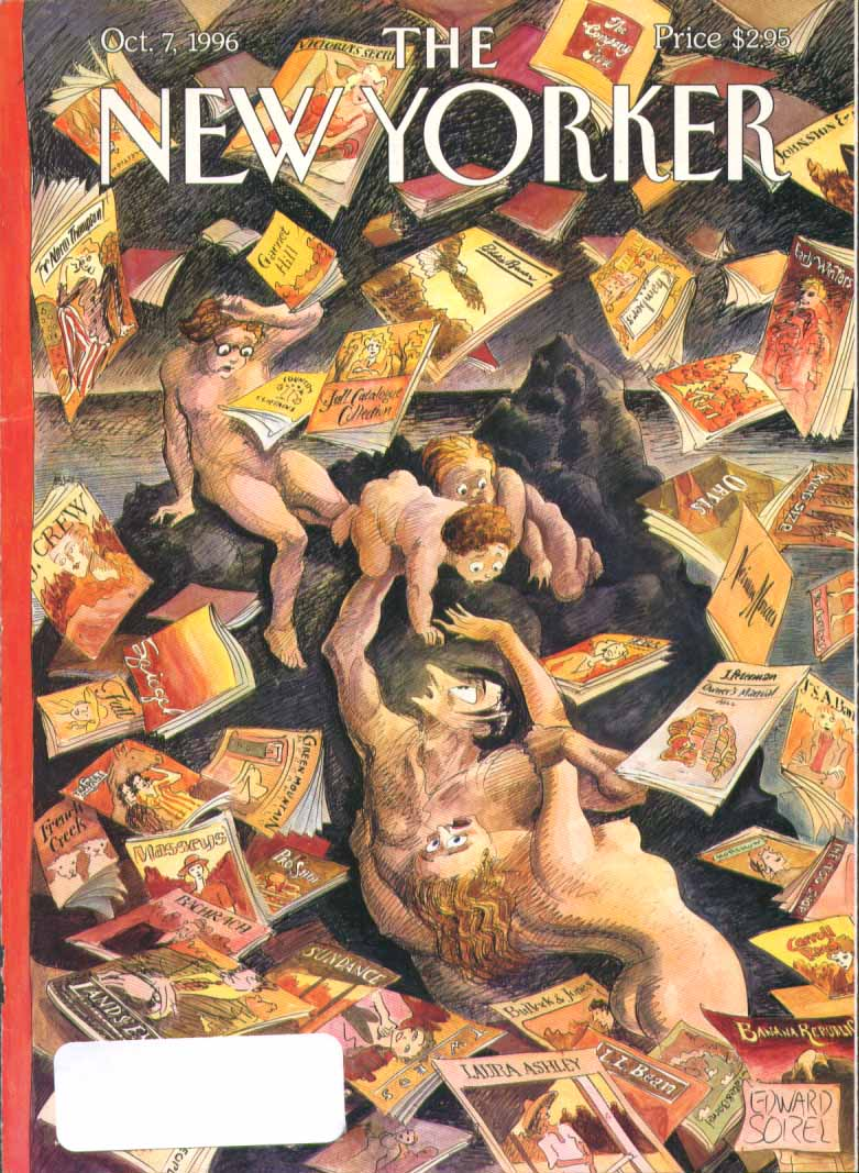 New Yorker cover Sorel mailorder catalog hell 10/7 1996