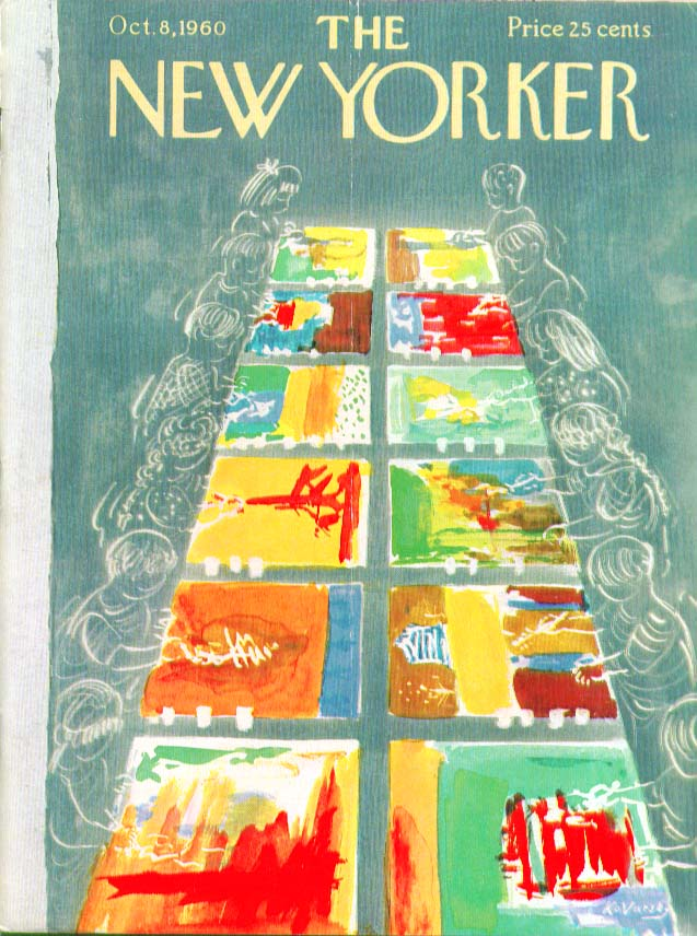 Image for New Yorker cover Kovarsky children painting 10/8 1960