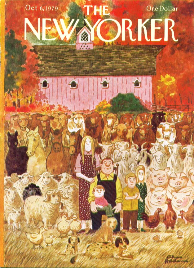 New Yorker cover Addams farm family 10/8 1979