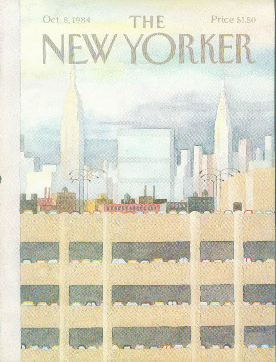 New Yorker cover Martin parking garage city 10/8 1984