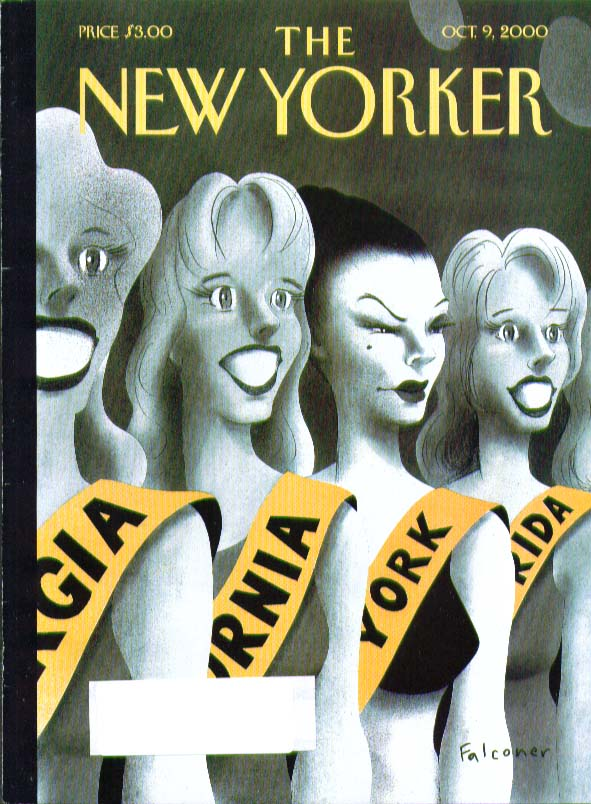 New Yorker cover Falconer Miss America gals 10/9 2000