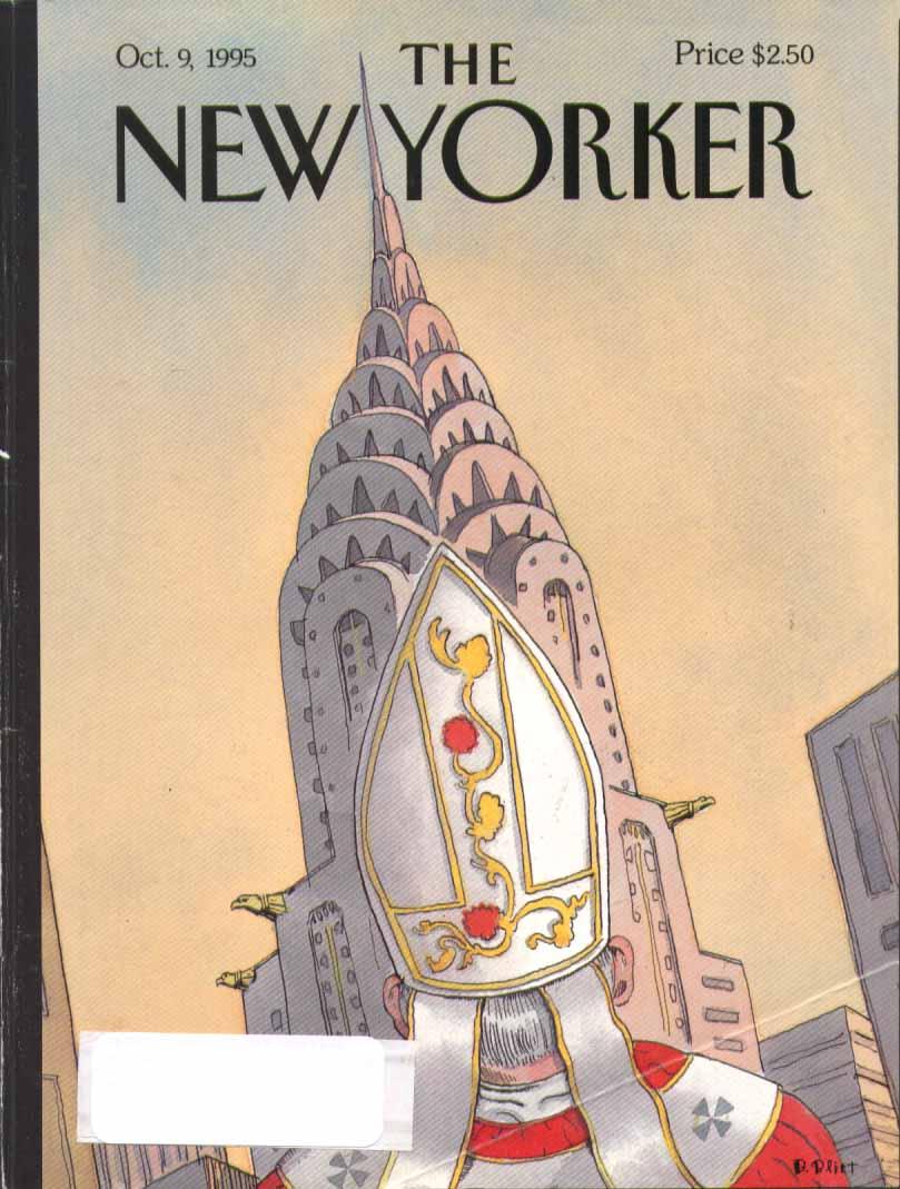 New Yorker cover Blitt Pope vs Chrysler Building 10/9 1995