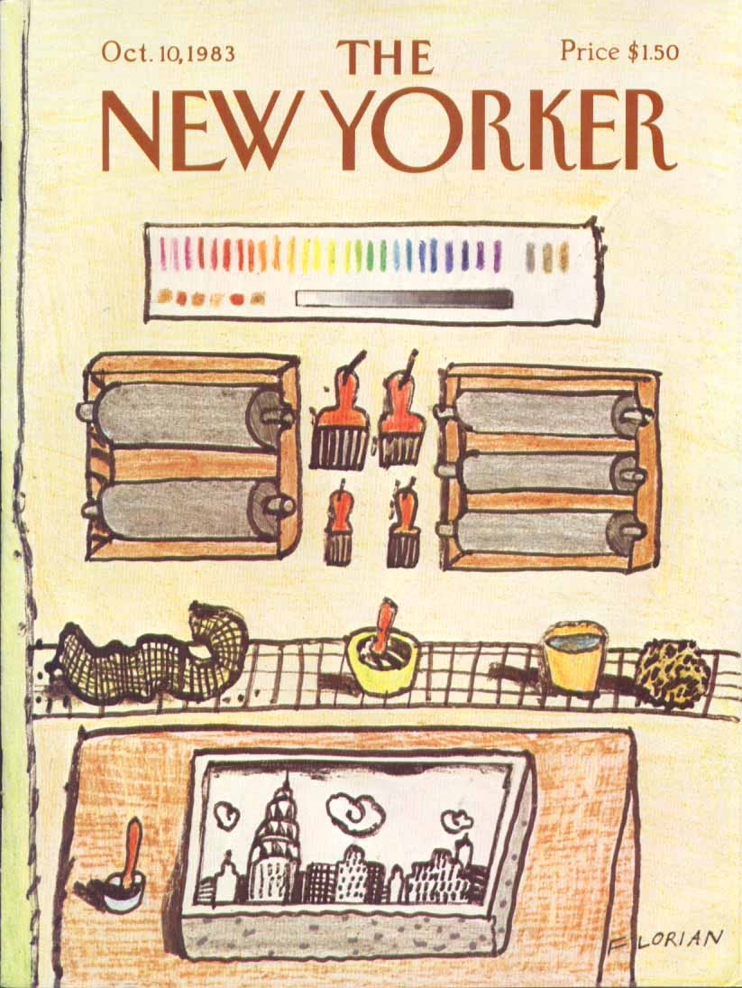 New Yorker cover Florian NY etching studio 10/10 1983