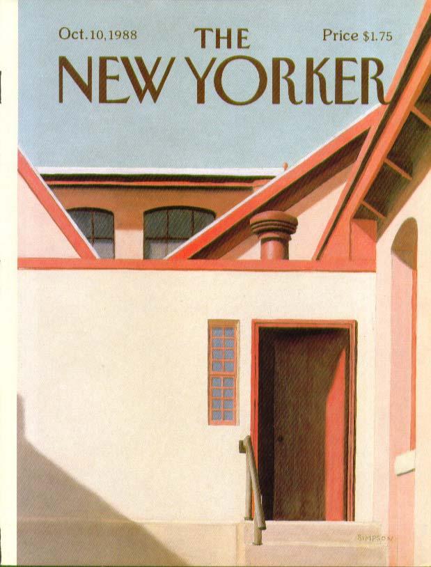 New Yorker cover Simpson back door farmhouse 10/10 1988