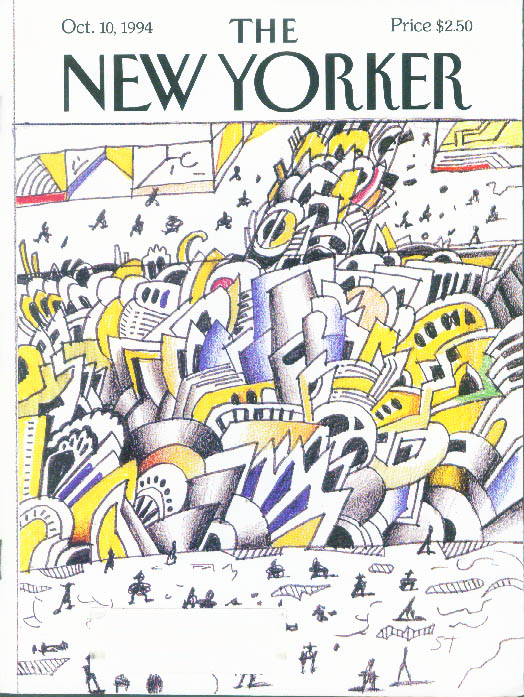 New Yorker cover Steinberg urban chaos 10/10 1994