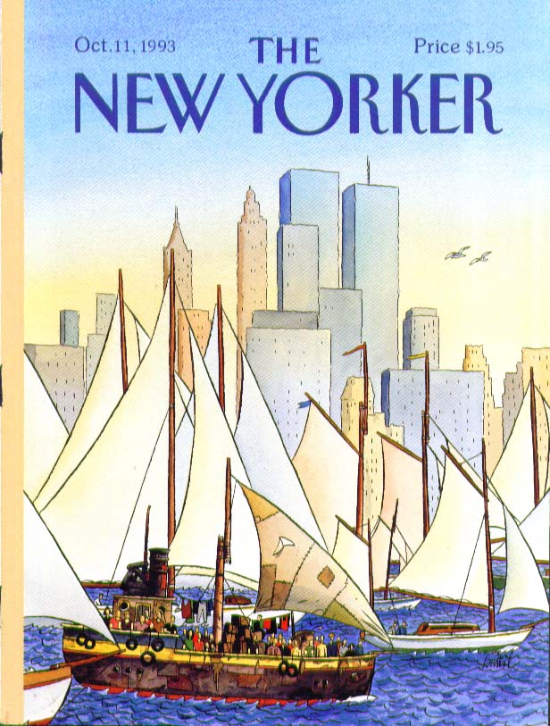 New Yorker cover de Loustal people regatta 10/11 1993