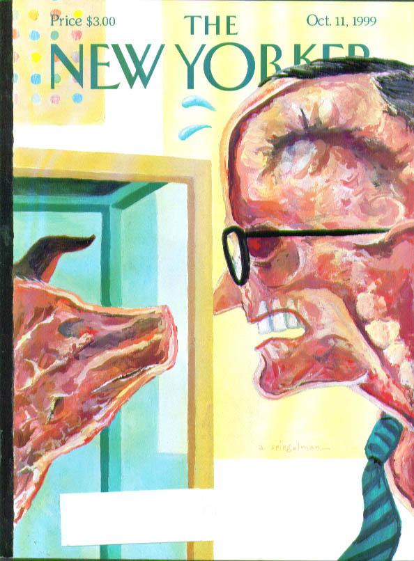 New Yorker cover Spiegelman pig vs man 10/11 1999