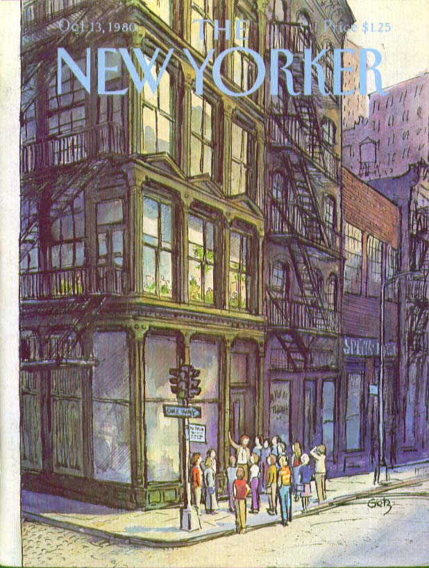 New Yorker cover Getz city architecture tour 10/13 1980