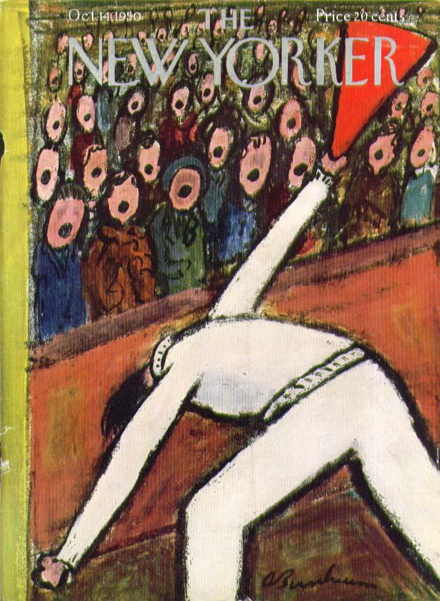 New Yorker cover Birnbaum football cheer 10/14 1950