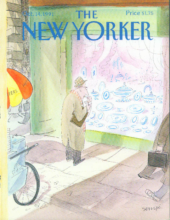 New Yorker cover Sempe fine china shop view 10/14 1991