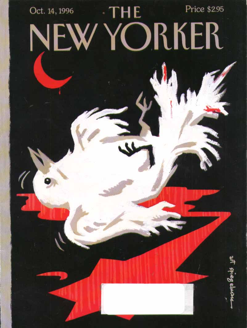 New Yorker cover Spiegelman bloodied dove 10/14 1996