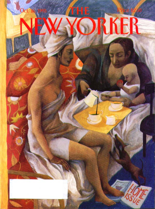 New Yorker cover lesbian couple with their child 10/16 1995