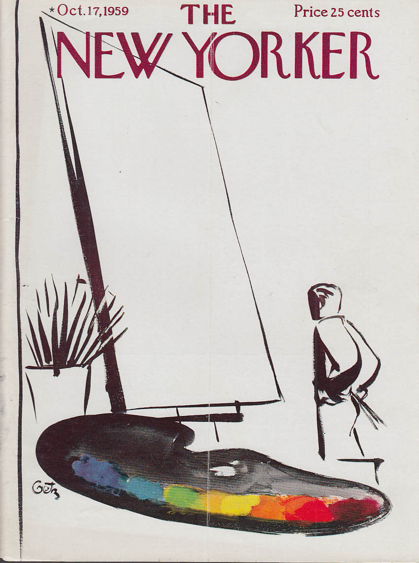 New Yorker cover Getz blank canvas 10/17 1959