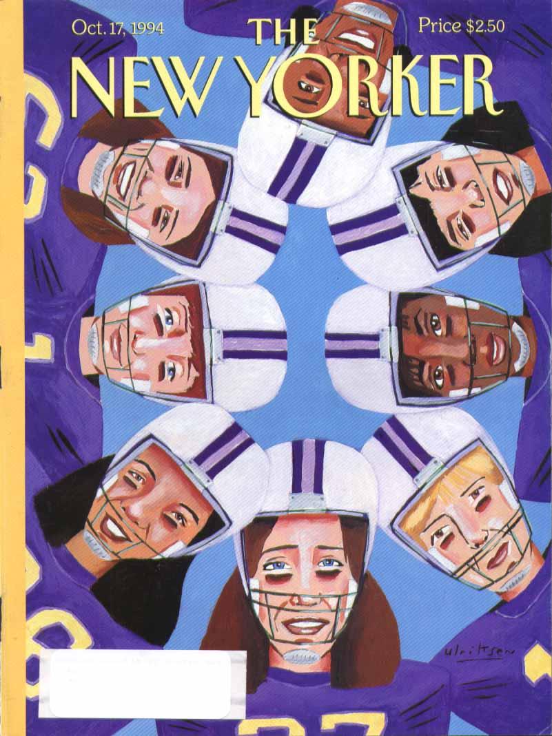 New Yorker cover Ulriksen girl football 10/17 1994