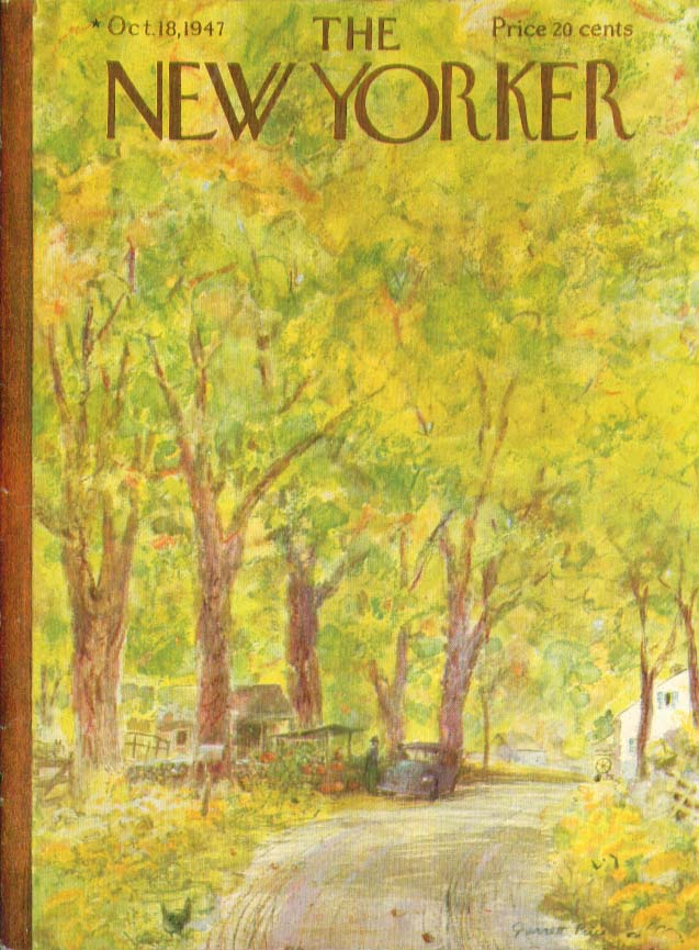 New Yorker cover Price autumn roadside stand 10/18 1947