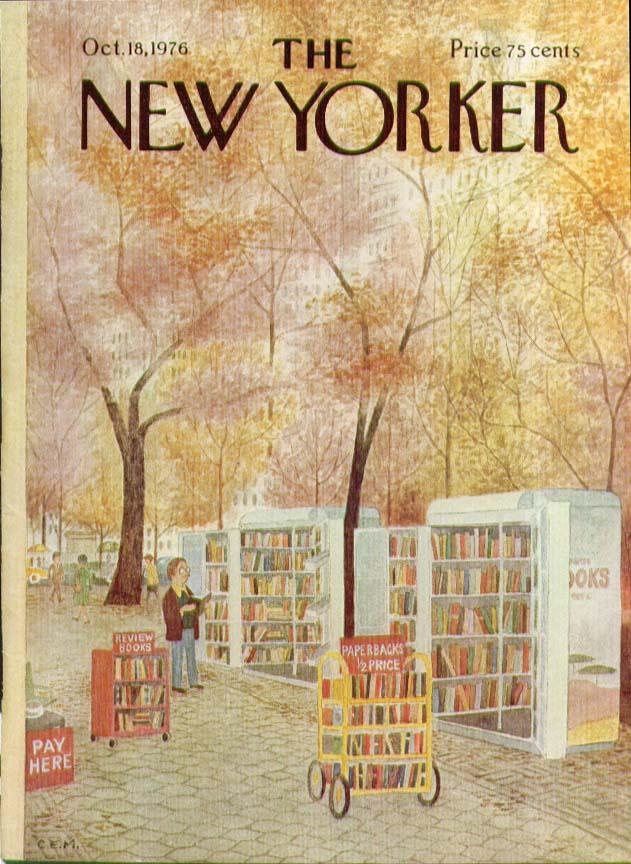 Image for New Yorker cover Martin park books 10/18 1976