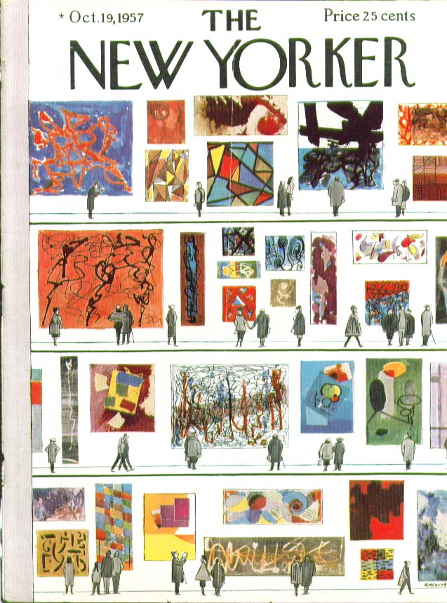 Image for New Yorker cover Kovarsky Museum Modern Art 10/19 1957