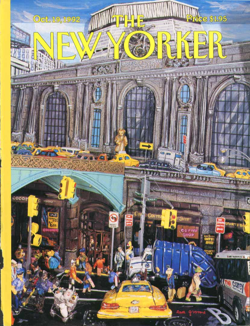 New Yorker cover Grooms Grand Central 10/19 1992