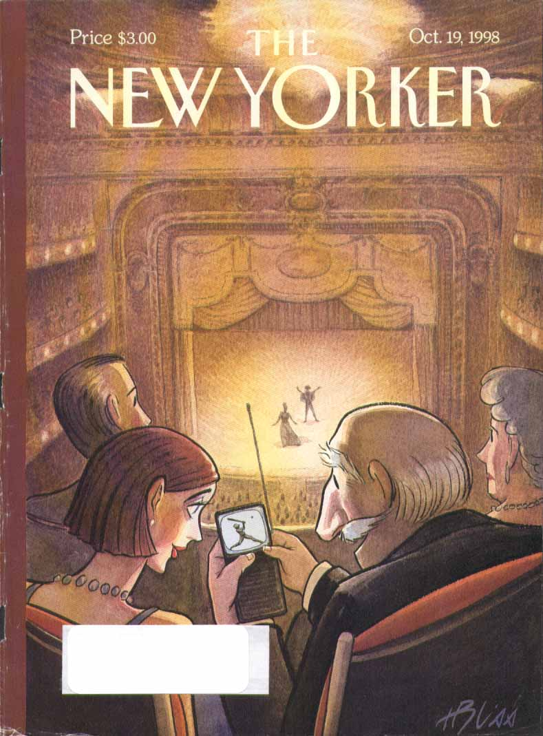 New Yorker cover Bliss tiny ballgame at Met 10/19 1998