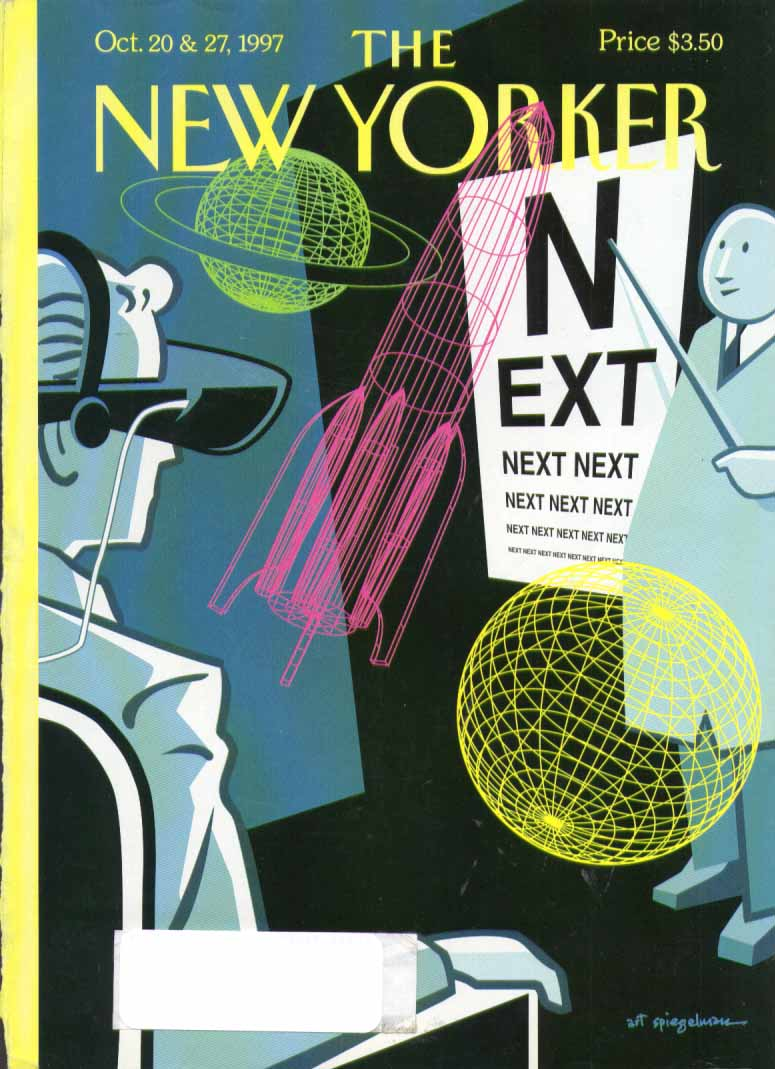 New Yorker cover Spiegelman NEXT eyechart 10/20 1997