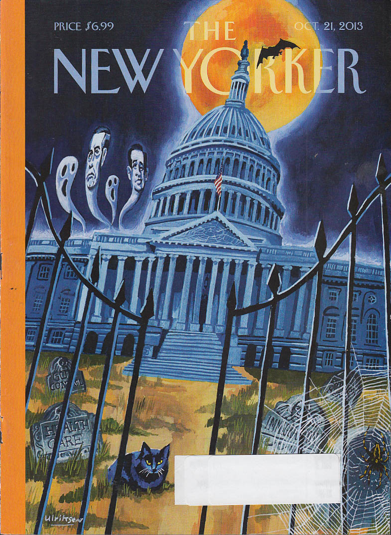 New Yorker cover 10/21 2013 Ulriksen: Haunted Health Care U S Capitol Building
