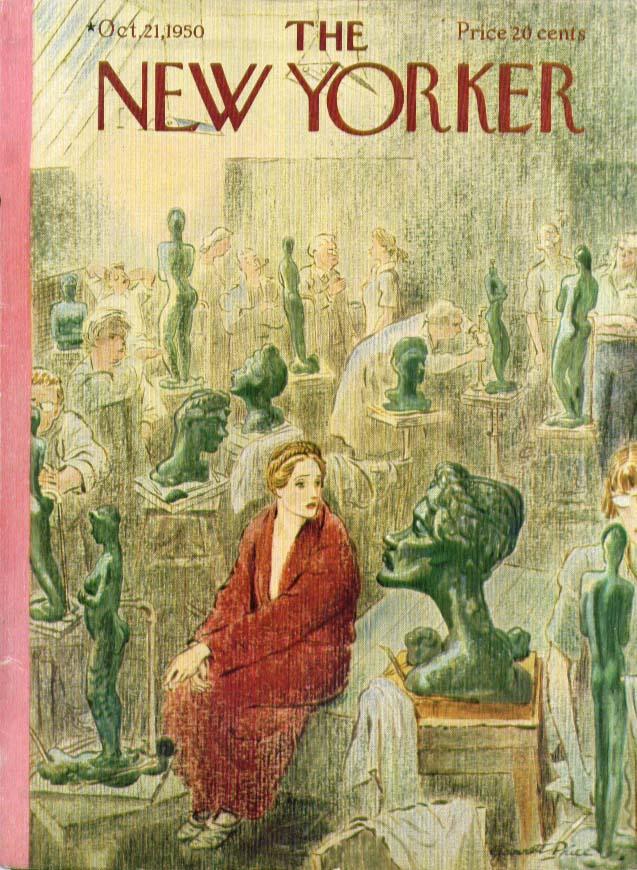 New Yorker cover Price sculpture art class 10/21 1950