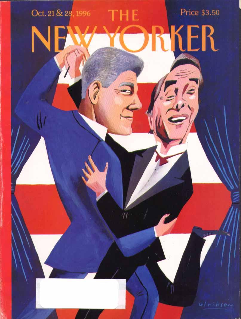 New Yorker cover Ulriksen Clinton-Dole dance 10/21 1996