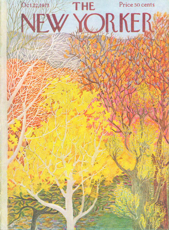 New Yorker cover Ilonka Karasz fall foliage 10/22 1973