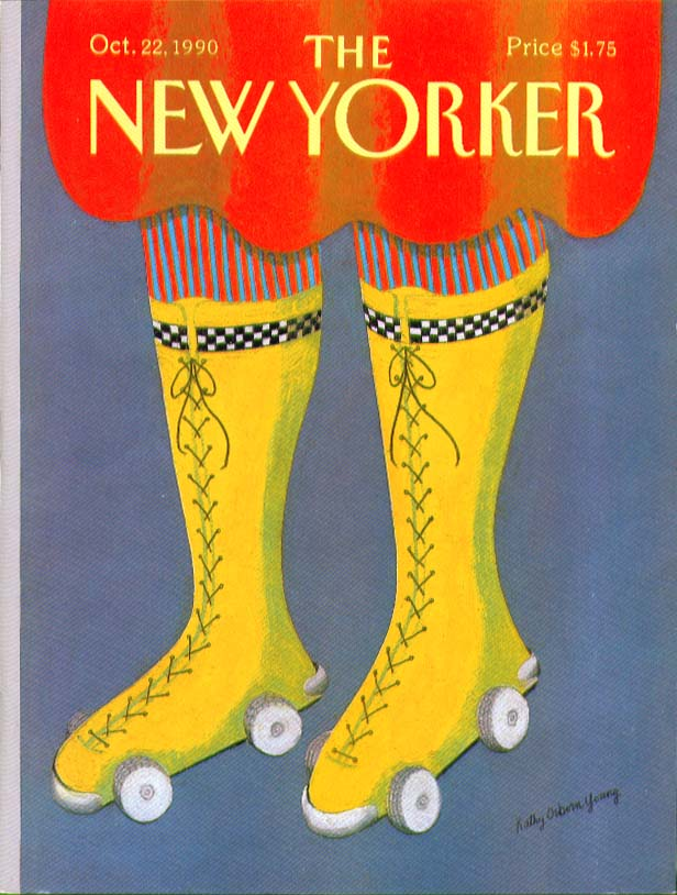 New Yorker cover Young hightop rollerskates 10/22 1990