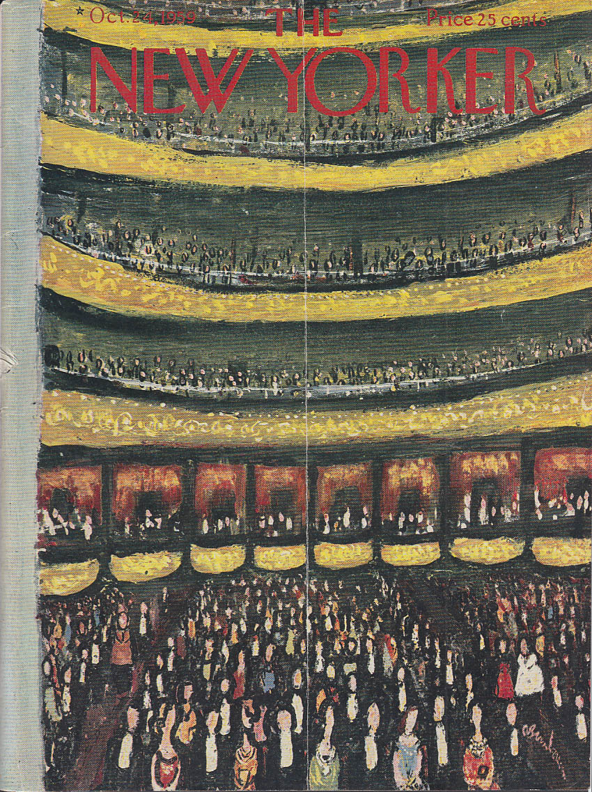 New Yorker cover Birnbaum Carnegie Hall 10/24 1959
