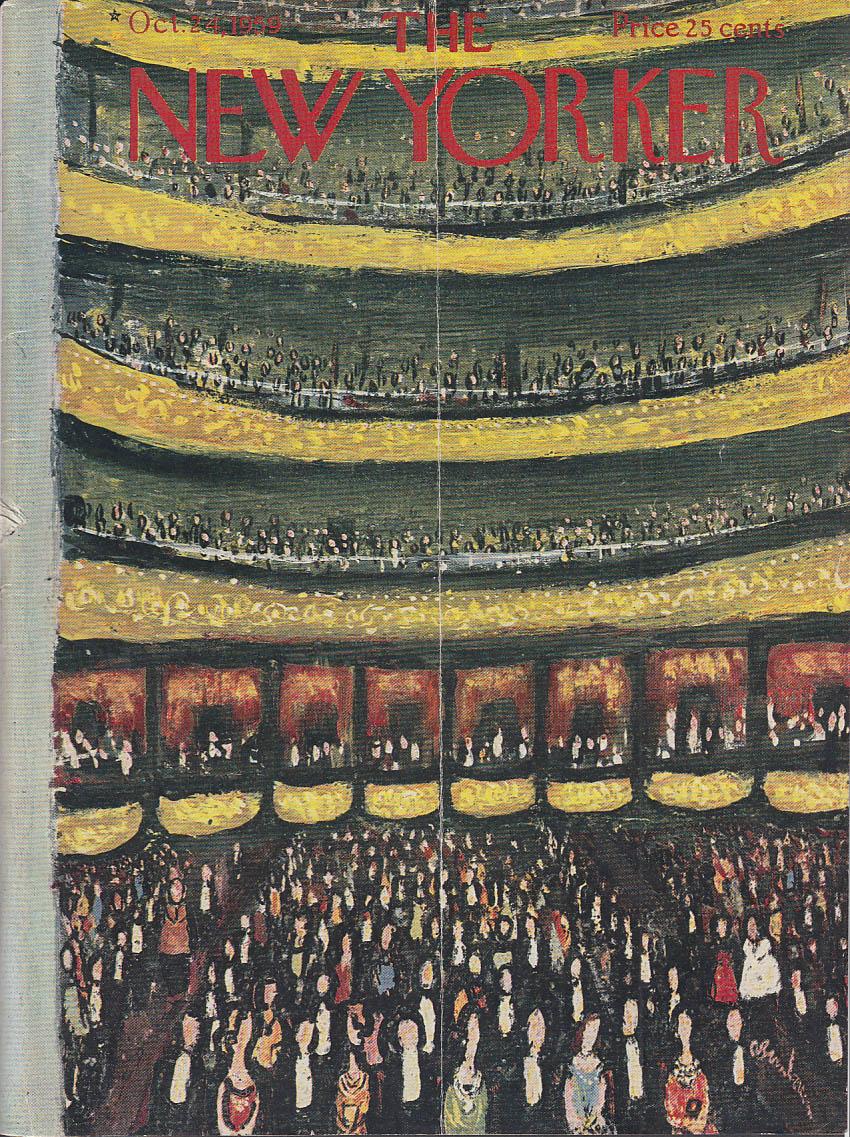 New Yorker cover Birnbaum Carnegie Hall 10/24 1959