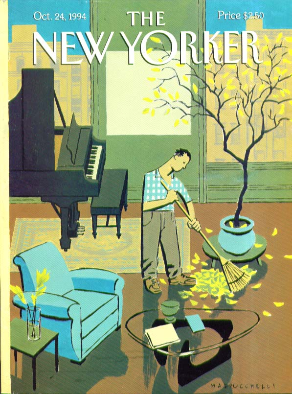 New Yorker cover Mazzucchelli indoor raking 10/24 1994