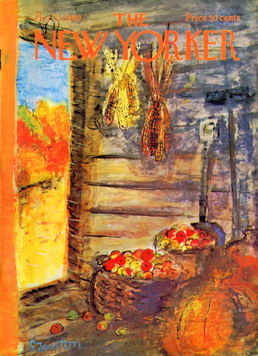 Image for New Yorker cover Szanton apples & vegetable 10/25 1969