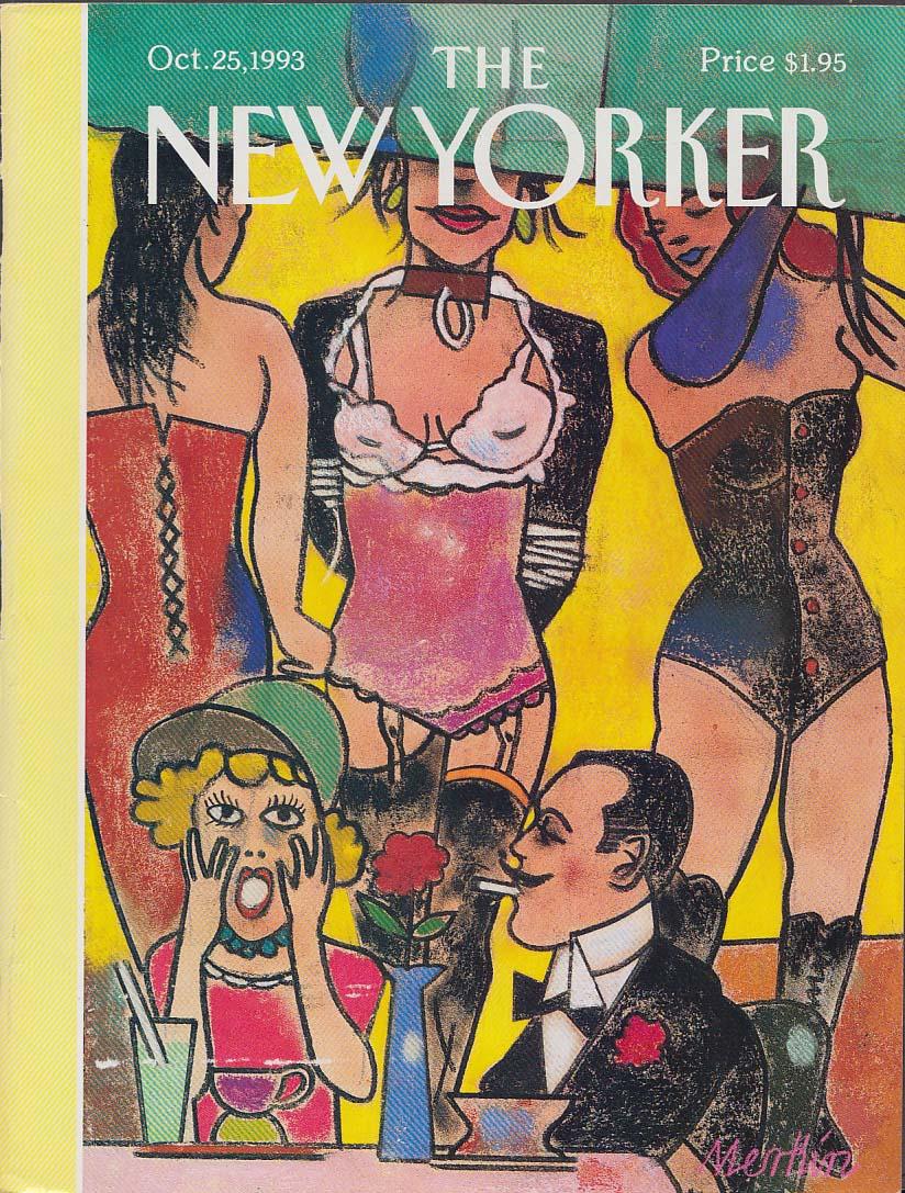 New Yorker cover Merkin lingerie show café 10/25 1993