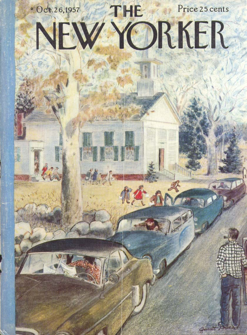 New Yorker cover Price Sunday school let out 10/26 1957