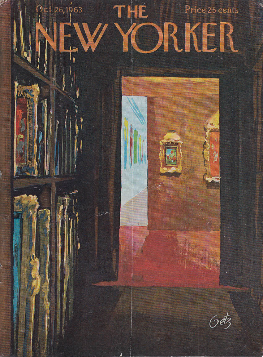 New Yorker cover Getz art gallery storage 10/26 1963