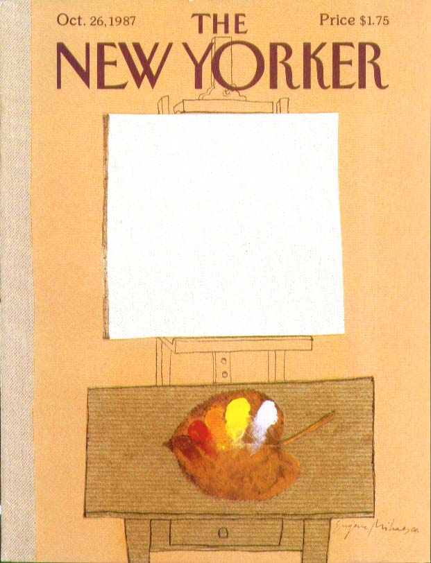 New Yorker cover Mihaesco blank canvas 10/26 1987