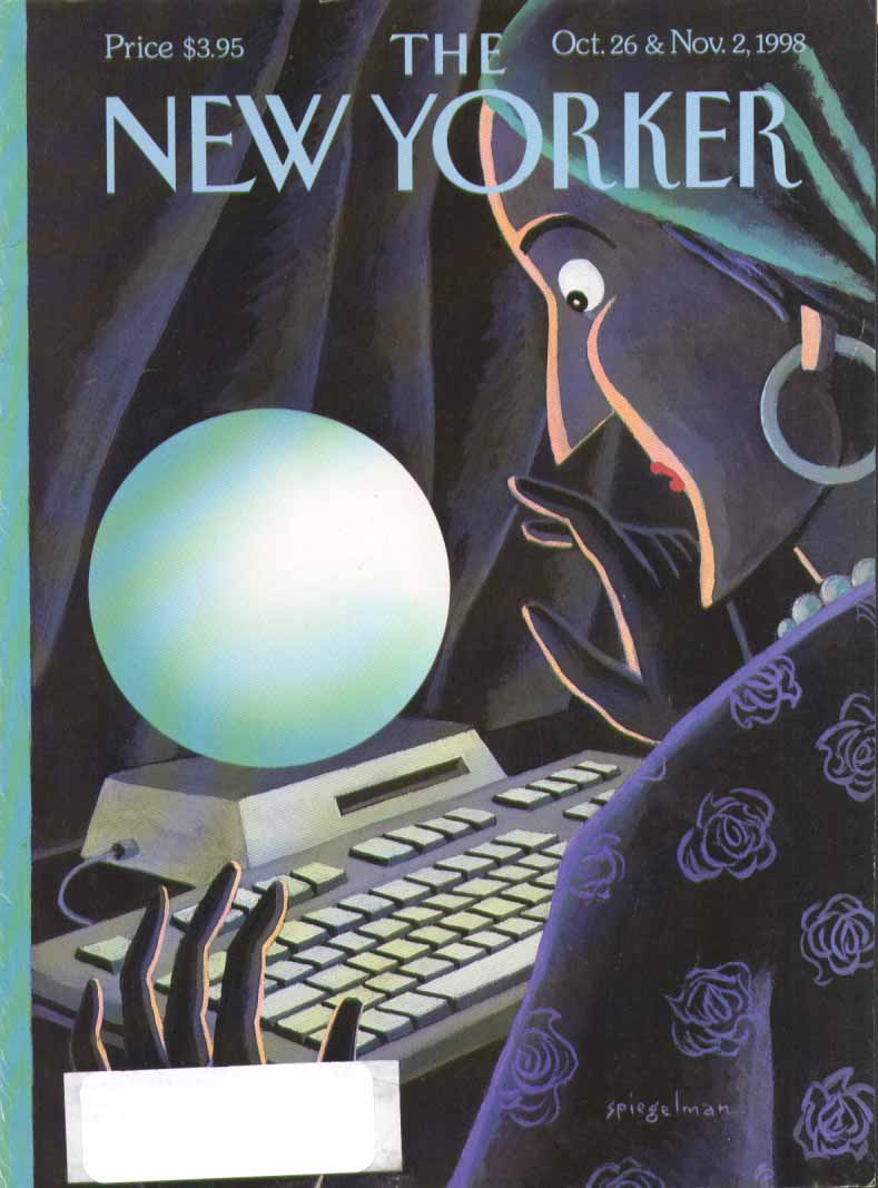 New Yorker cover Spiegelman PC crystal ball 10/26 1998