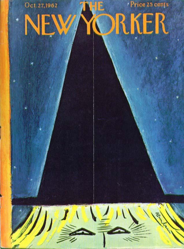 New Yorker cover Birnbaum Halloween witch 10/27 1962