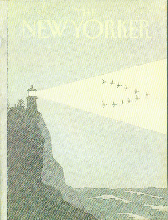 New Yorker cover Charles E Martin lighthouse 10/27 1980